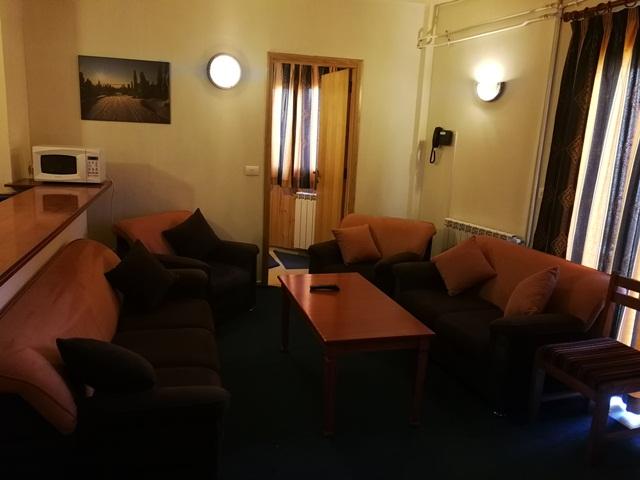 L'Escale du Mzaar Chalets Three Bedroom Living Room