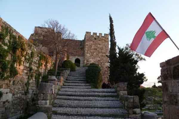 The Crusader Byblos Castle, Lebanon